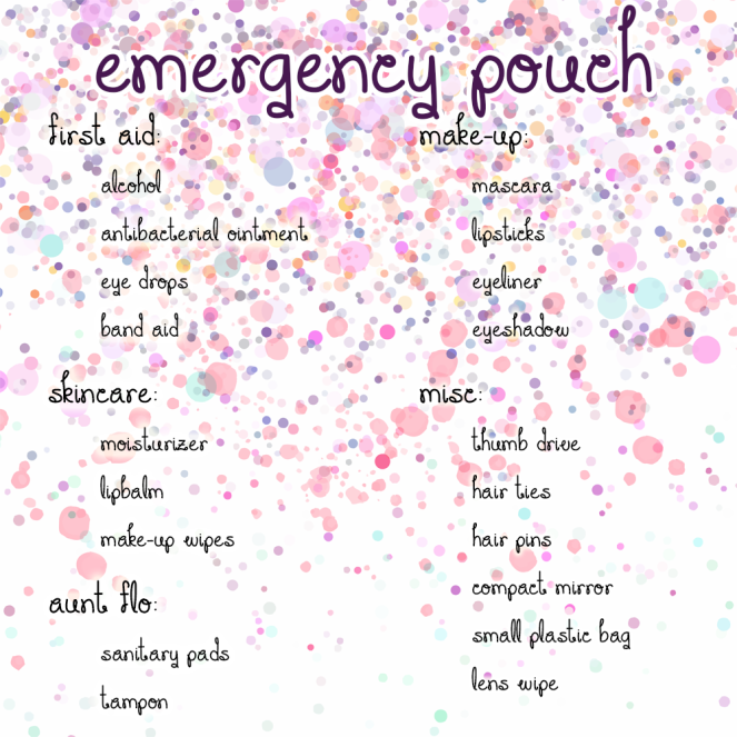 emergency pouch